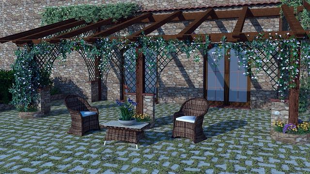 pergola na zahradě