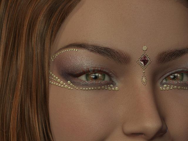 šperky pod očima