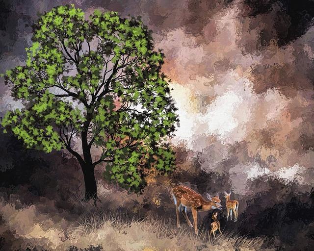 srny u stromu