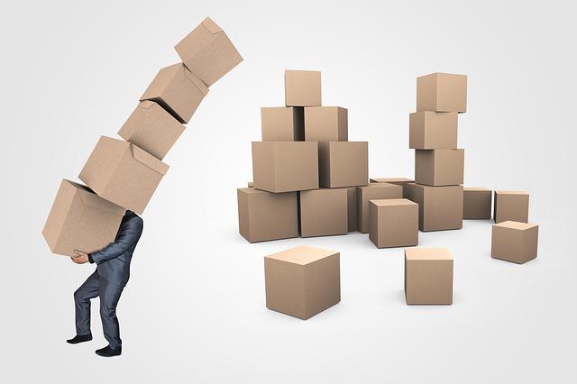 podnikatel a krabice