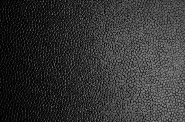 Detail textura černé kůže