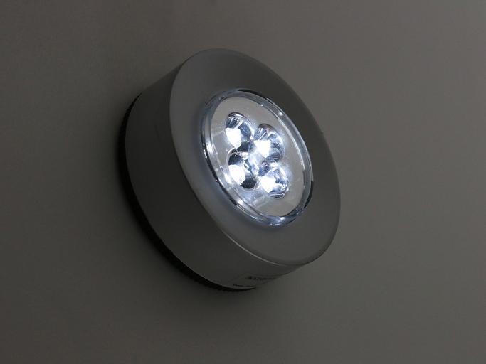 LED světlo na zdi