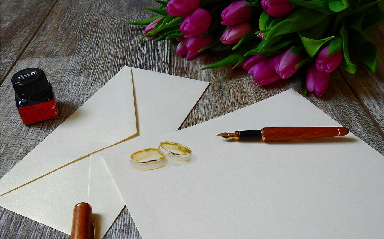 výběr svatebního oznámení